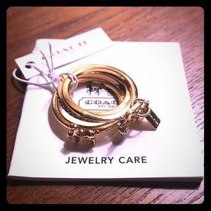 Coach 3 piece ring
